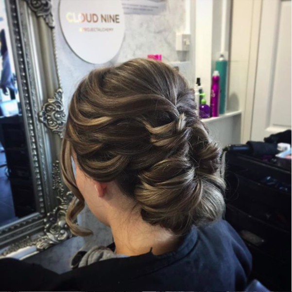 elegant hair up created by wedding hair specialist hair expert in salon