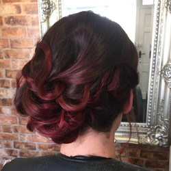 colour specialist in red balayage hair