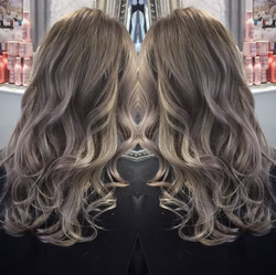 blonde balayage created in salon using professional products by our hair colourist team
