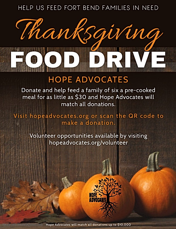Copy of Thanksgiving Food Drive - Made w