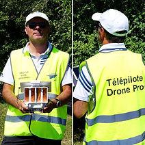 Gilet télépilote pro opérateur drone GMprod42 GMprod GMprod vues aériennes