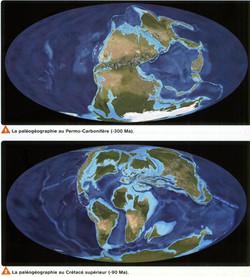 Crétacé paléogéographie