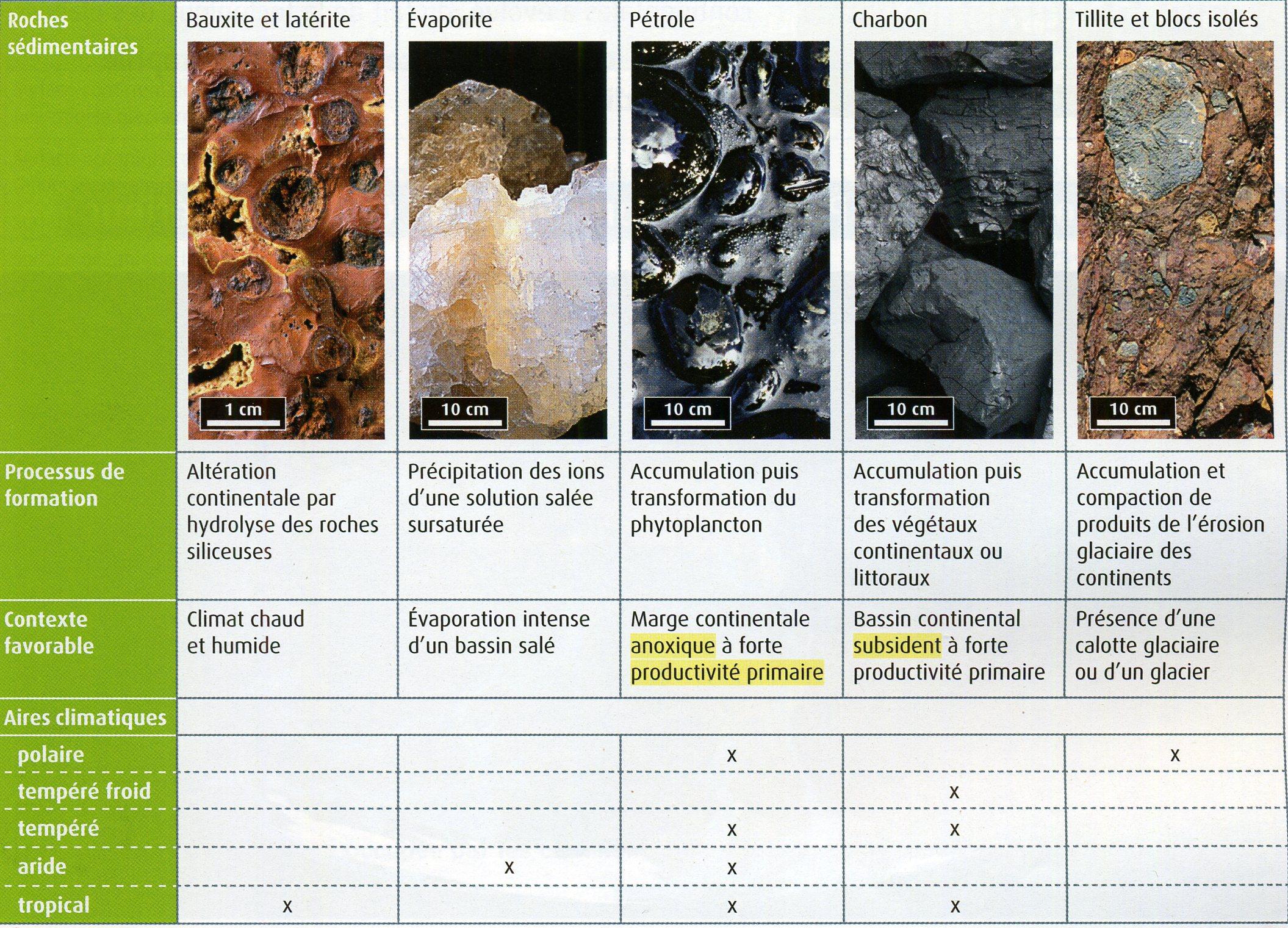 Roches sédimentaires et climat