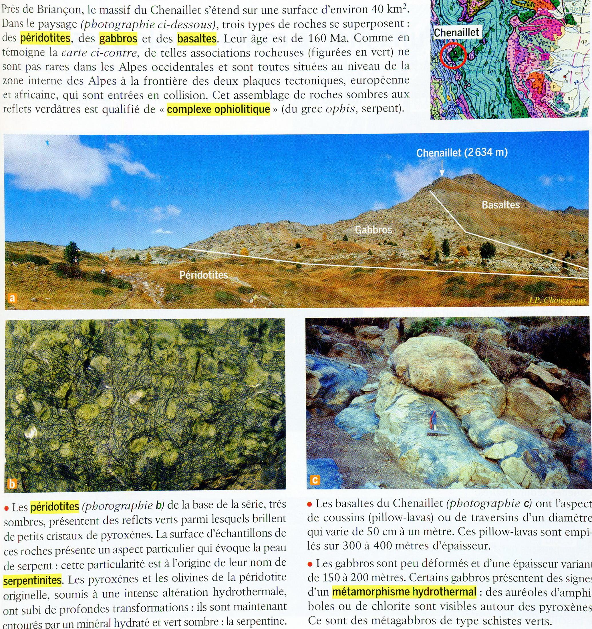 Chenaillet complexe ophiolitique