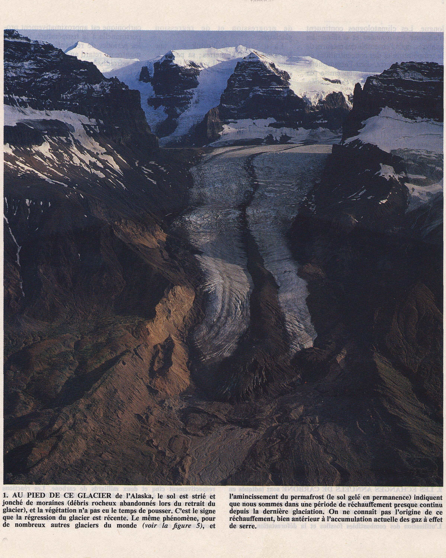 Glacier et moraines