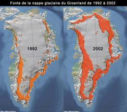 Groenland fonte de la nappe glacière