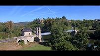 Margeaix, château, néogothique, pont suspendu