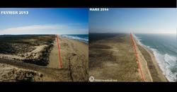 Dune avant après tempète