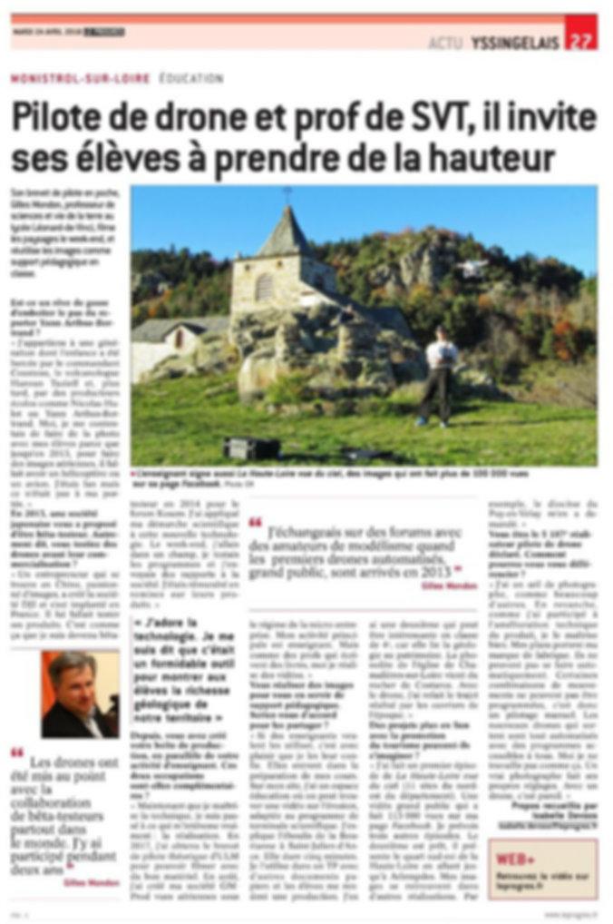Article description parcours Gilles Mondon