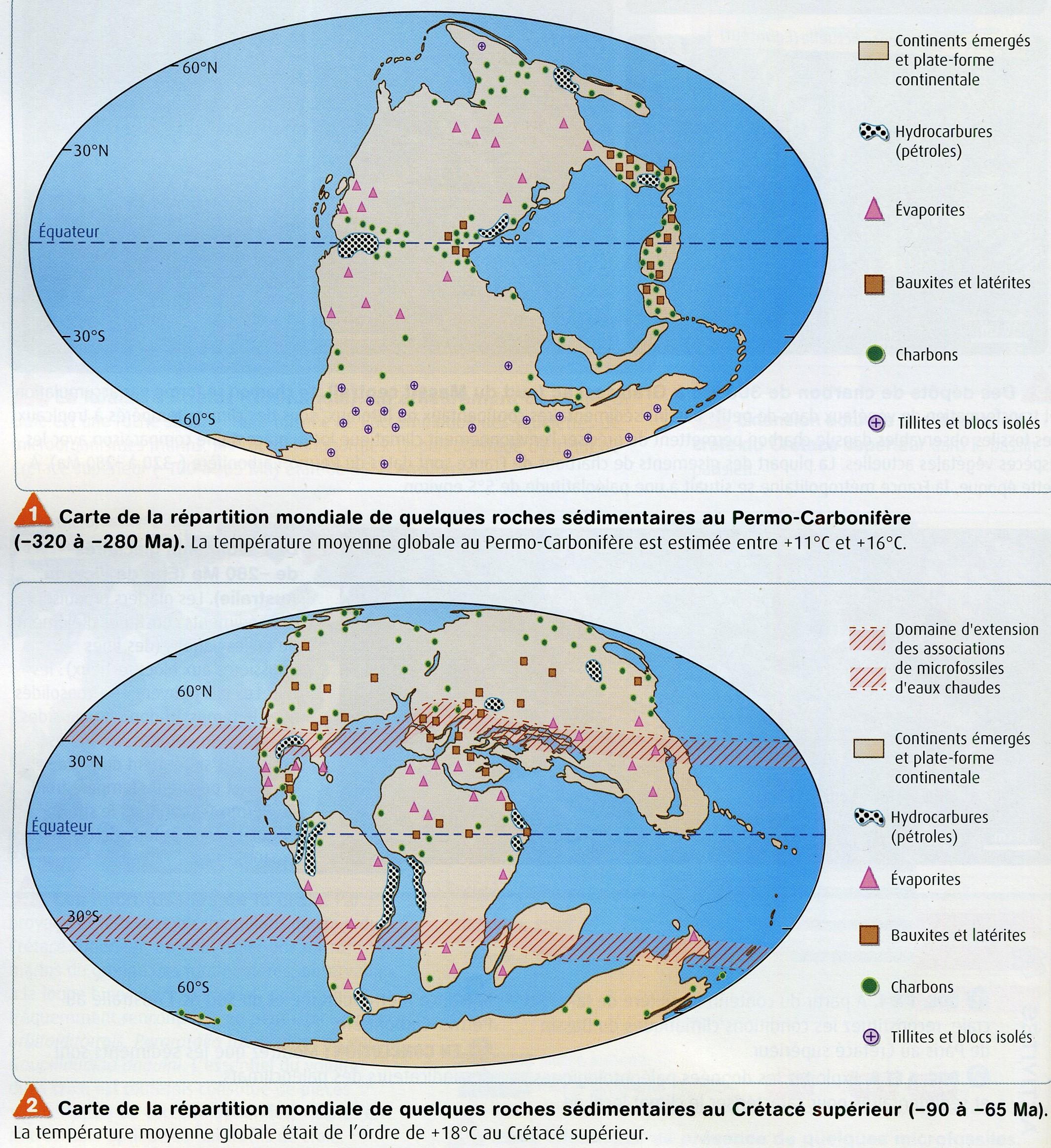 Paléoroches carbonifère crétacé