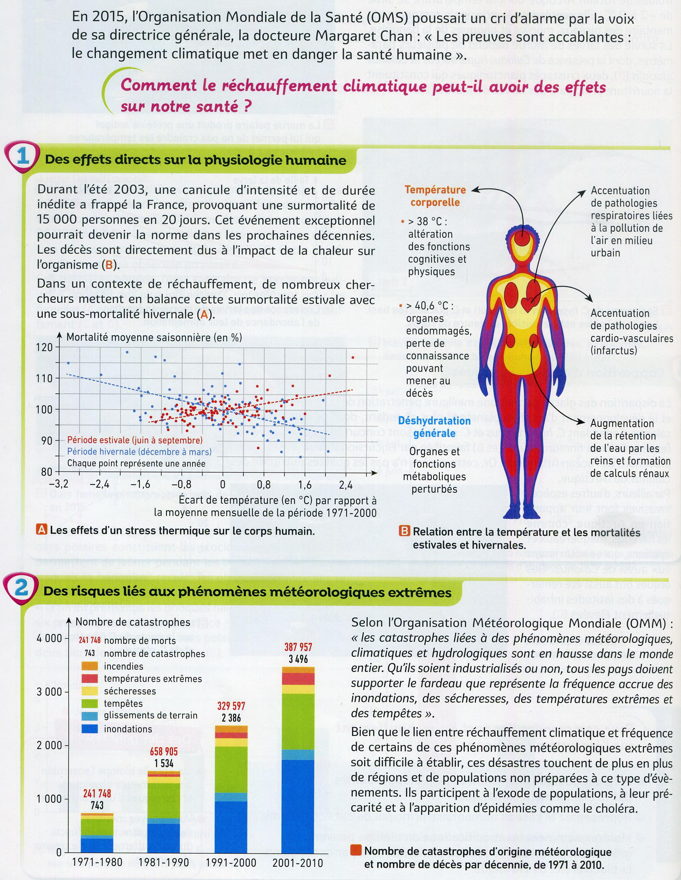 Activité 8 réchauffement et santé humain