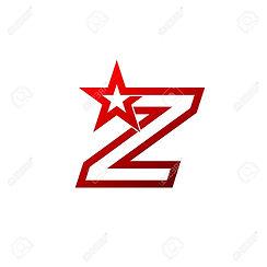 84059828-文字-z-ロゴ。赤い星印ブランド-アイデンティティ企業珍しいロ