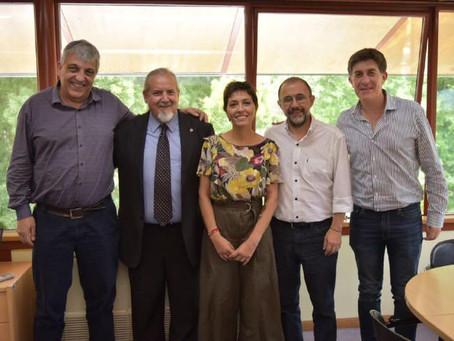 Nos reunimos con el rector de la UNQ, Alejandro Villar y miembros de la comunidad educativa