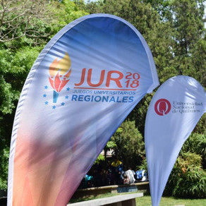 Participamos de la apertura de los Juegos Universitarios Regionales que se realizan la UNQUI.