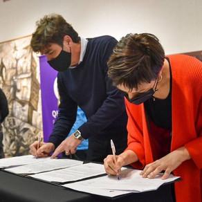 Firmamos un convenio de colaboración y cesión gratuita con Pablo Carignano