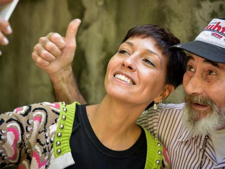 Santiago y Ángela por recibirme en sus casas para que charlemos con vecinos y vecinas de #Ezpeleta.