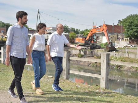 Recorrimos los operativos de limpieza y desobstrucción del Arroyo Las Piedras