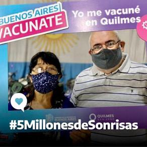 ¡Ya hay 5 millones de bonaerenses vacunadas y vacunados!