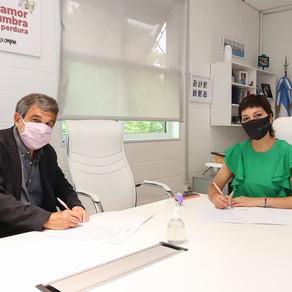 Con @RCSalvarezza firmamos un convenio entre @ciencia_ar y @QuilmesMuni