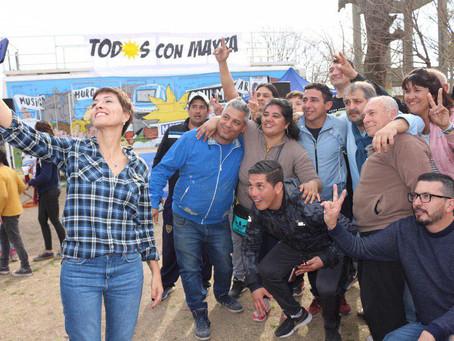 Participé del festejo por los 69 años del barrio Los Eucaliptus de Solano.