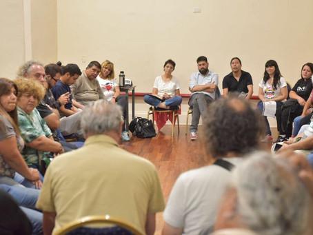 Compartimos un encuentro con representantes de movimientos sociales