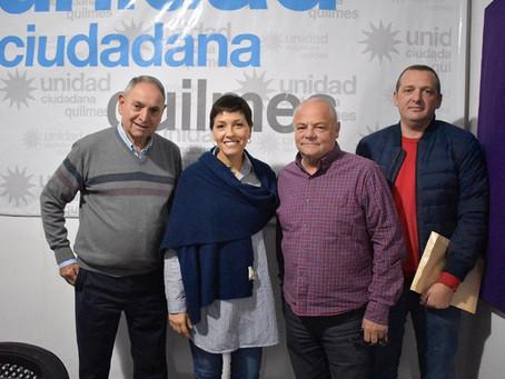 Con el Presidente de la Asociación Comercial de Quilmes, Alberto Gerchkovich.