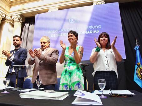 Inauguré el 138° periodo de las Sesiones Ordinarias del Honorable Concejo Deliberante de Quilmes