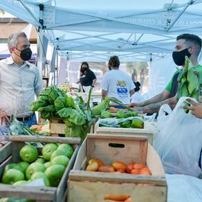 Recorrimos con @larroqueandres el Mercado de Productores Familiares en La Matera
