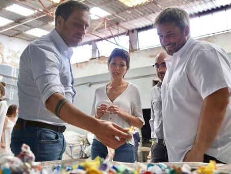 """Junto al ministro de Ambiente y Desarrollo Sostenible, Juan Cabandié, recorrimos """"Econciencia"""""""