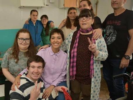¡Gracias a Laura y a los integrantes del Hogar Tía Mónica por recibirnos!