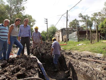 Con el ministro de Obras Públicas, Gabriel Katopodis