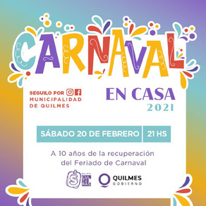 Este sábado te invitamos a vivir un carnaval distinto pero más vivo que nunca