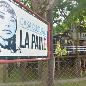 """En la inauguración de la casa cultural """"La Painé"""" en el río de Quilmes."""