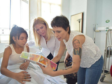 Recorrimos el Hospital Isidoro Iriarte  con la vicegobernadora bonaerense, Verónica Magario