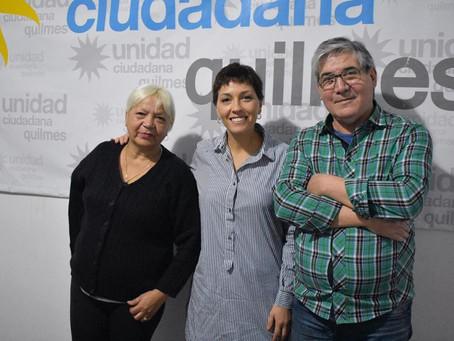 Con Compañeros del peronismo quilmeño.