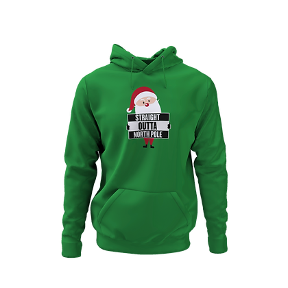 Straight Outta North Pole Hoodie