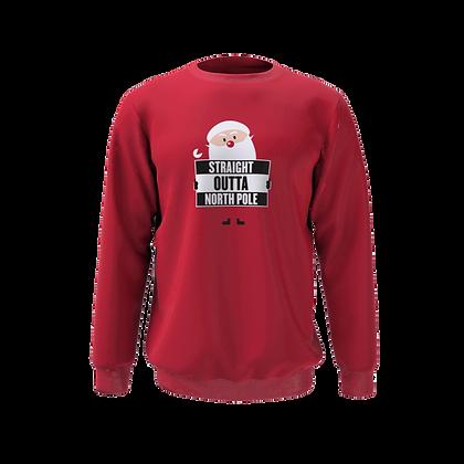 Straight Outta North Pole Kids Sweatshirt