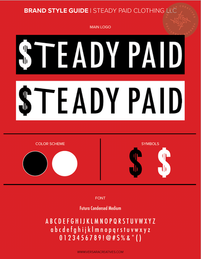 Brand Style Guide Steady Paid Clothing