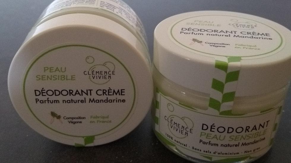 Déodorant naturel peau sensible Mandarine