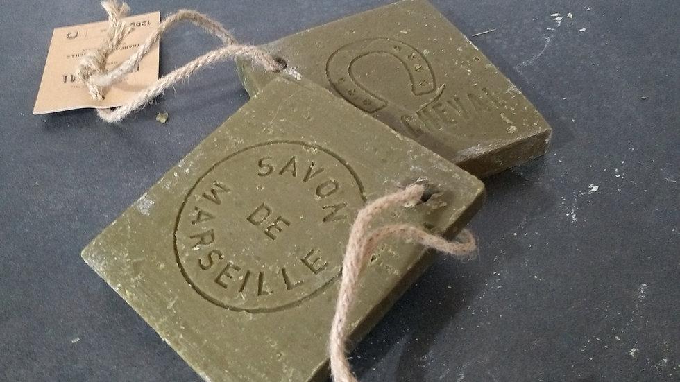 Tranche de savon de Marseille olive