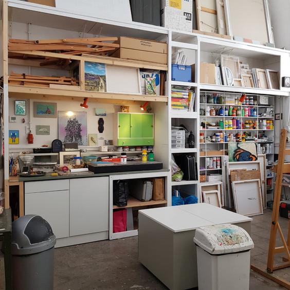 Grafiekwerkbank atelier Wijnstraat 119