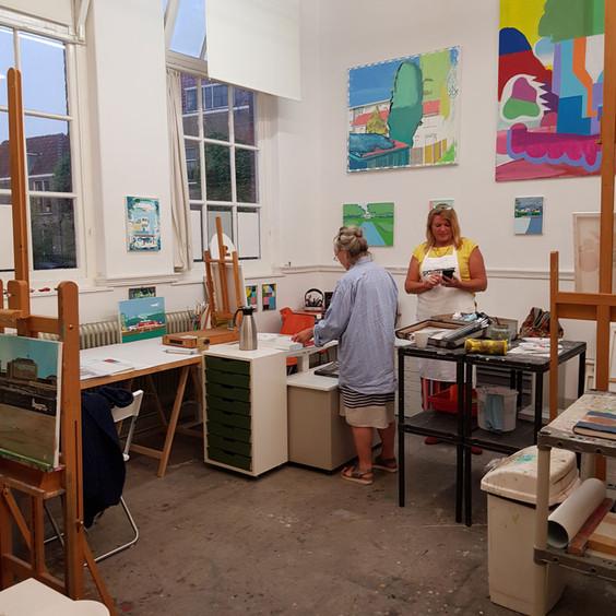 Schildercursus Atelier Wijnstraat 119 Albert Zwaan