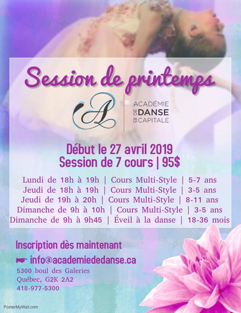 Session de printemps 2019