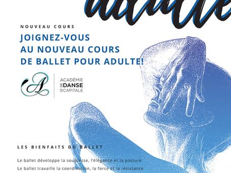 Nouveau cours de ballet pour Adulte