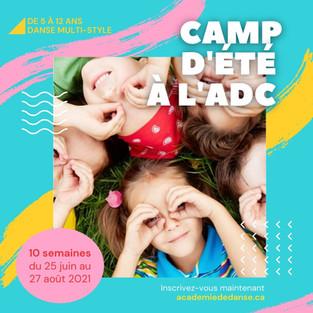 CAMP D'ÉTÉ RÉCRÉATIF et COMPÉTITIF 2021