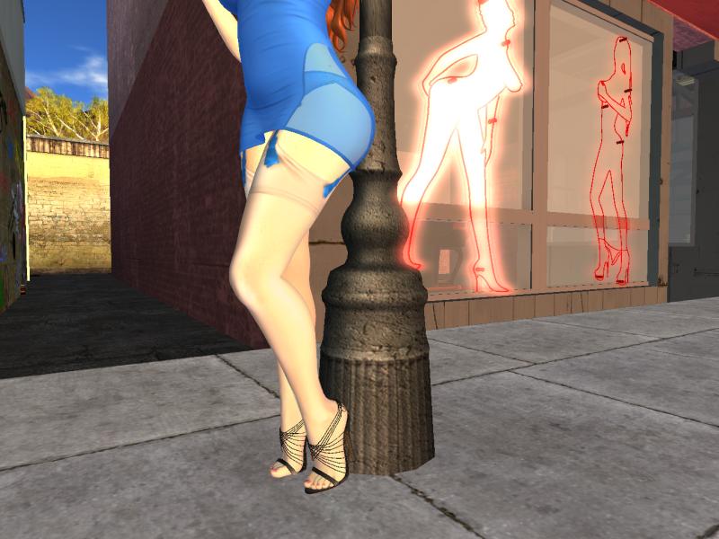Woman dressed seductively