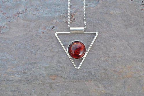 Red and Orange Triangle Necklace