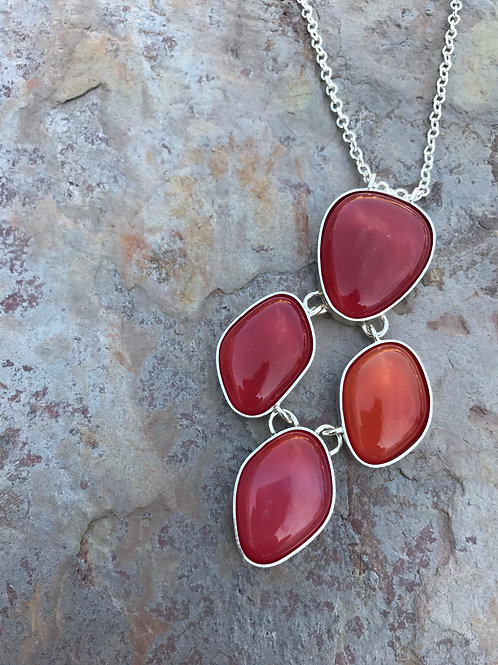 Coral Four Piece Necklace