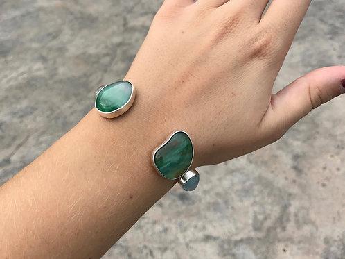 Four Piece Green Cuff Bracelet