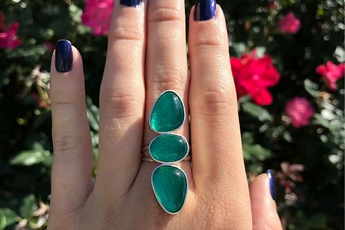 Three Piece Green Ring
